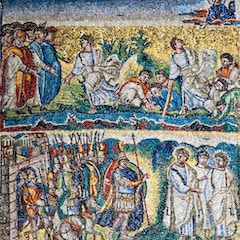 Nave Mosaic (c. 435): Moses and the Water