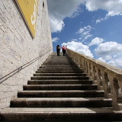 Stairs to Piazza Superiore