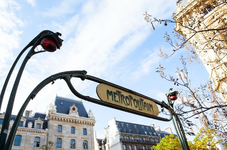 Art Nouveau Metro Sign