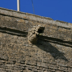 Gargoyle High on South Side of Tower