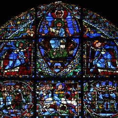 Life of Christ Window 22-27: Triumphal Entry and Madonna