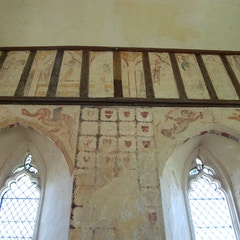 Murals on North Wall of Chancel