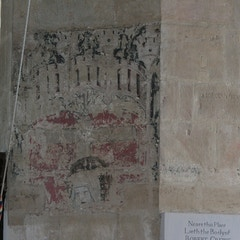 Southeast Pier of Tower Has Pietà Wall Painting of C.1500