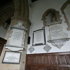 Memorials in NW Corner of Chancel