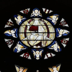 Circle at Top of East Window