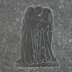 Detail of Brass Memorial in Chancel Floor