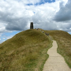 Glastonbury Tor (the final climb)