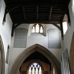 Ten Commandments on Chancel Arch