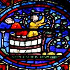 Zodiac Window (c.1220): September