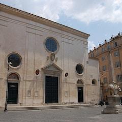 Unassuming Facade of Santa Maria Sopra Minerva