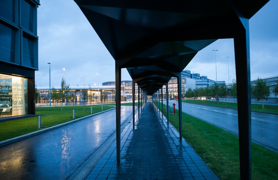 Covered Walkway to Airport