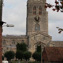 Approaching Thame Parish Church from South