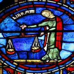 Zodiac Window (c.1220): Libra