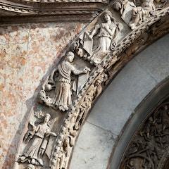 West Facade: Central Portal Sculptures