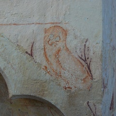 Above Sedilia is Short-Eared Owl