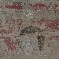 Detail of Face of Mary from Pietà Wall Painting of C.1500