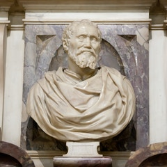 Tomb of Michelangelo (1574): Portrait Bust