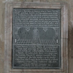 Wall Memorial Consisting of Incised Slab of Purbeck Marble