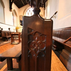 Bench-End on South Side of Chancel