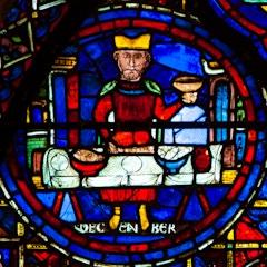 Zodiac Window (c.1220): December