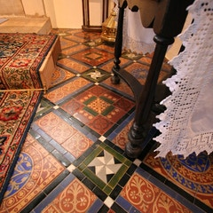 Floor Tiles to Right of Altar