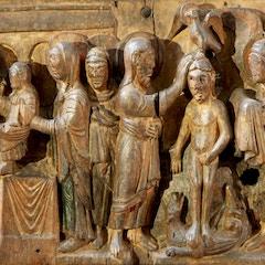 Wooden Door (c.1065): Presentation and Baptism of Christ