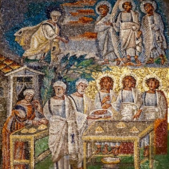 Nave Mosaic (c. 435): Abraham and the Angels