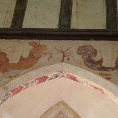 Detail of Murals of Basilisk and Griffin