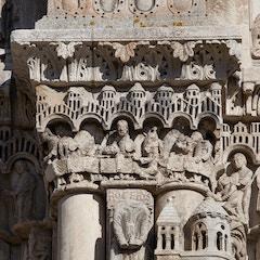 Royal Portal Frieze 28-30: Judas, Last Supper, Betrayal
