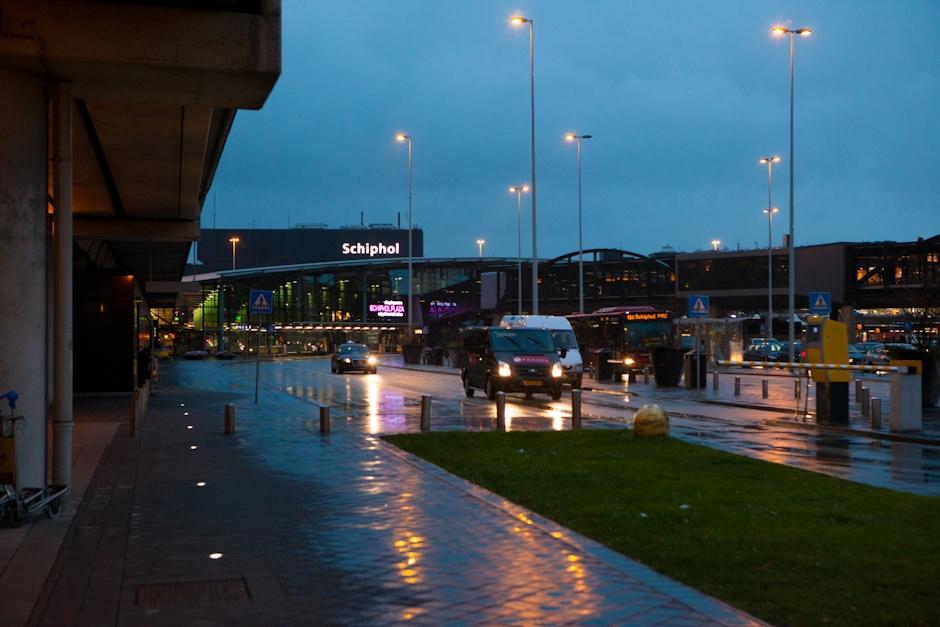 Airport Exterior at Dusk