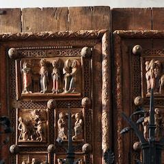 Wooden Door (c.1065): Top Left