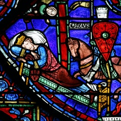 Charlemagne Window: Charlemagne Appears to Constantine