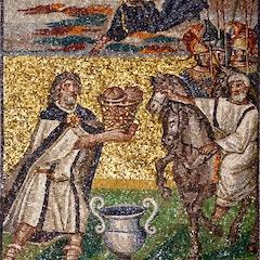 Nave Mosaic (c. 435): Melchizedek's Offering