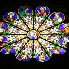One of Many Round Stained Glass Windows