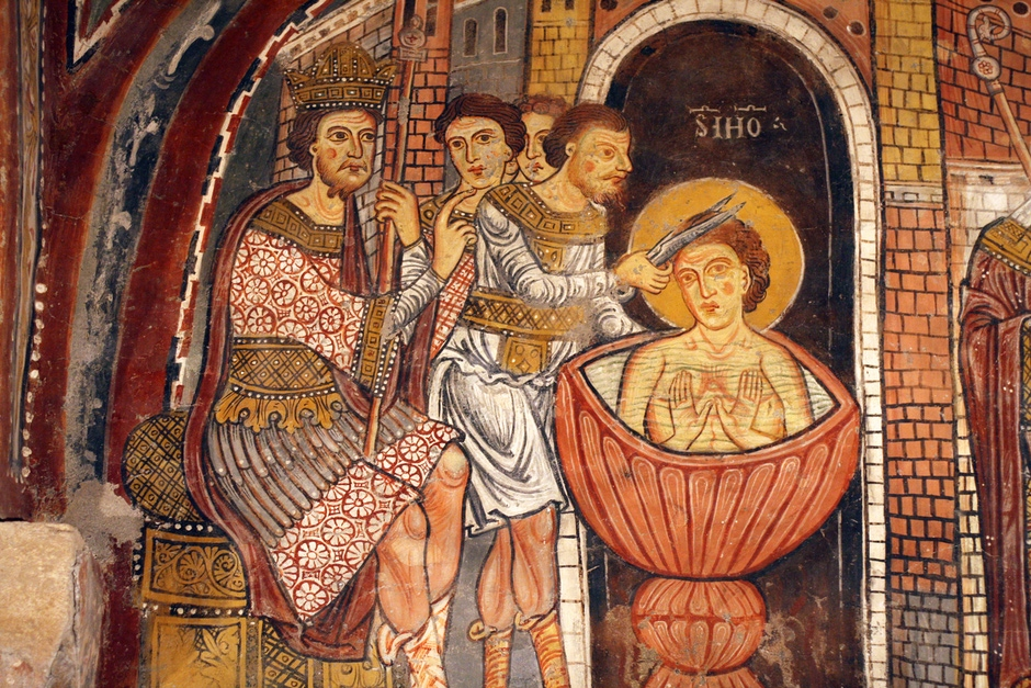 Crypt Fresco: Persecution of St. John the Evangelist