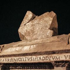 Sarcophagus of Junius Bassus: Inscription