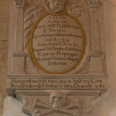 Memorial on West Wall of North Aisle