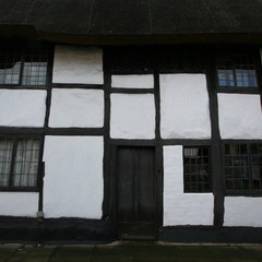 Detail of Half-Timbered House on High Street Near Church Road