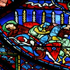 Charlemagne Window: Miracle of the Flowering Lances