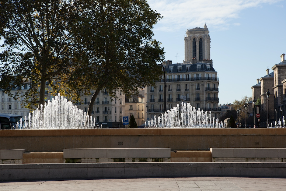Fountain and Notre-Dame