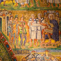 Triumphal Arch Mosaic (c. 435): Herod and the Magi