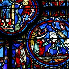 Zodiac Window (c.1220): Bellringers and Donor