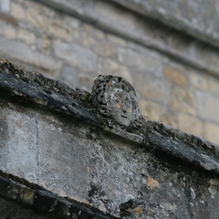 Corbel-Head on North Exterior of Nave
