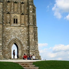 Visitors at St Michael's Tower