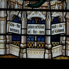 Detail of Glass in East Window