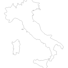 Outline Map of Italy