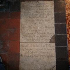 Memorials in Chancel Floor
