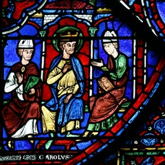 Charlemagne Window: Constantine's Letter