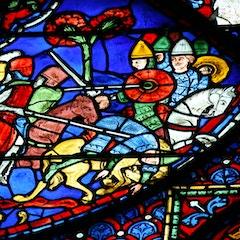 Charlemagne Window: Battle of Sahagun