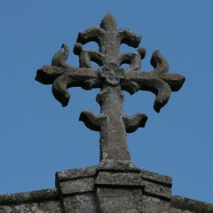 Detail of Stone-Carved Cross